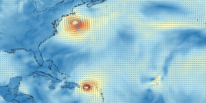 Dynamic visualization of meteorological data with QGIS.